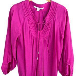 Diane Von Furstenberg Aquilina Tassel Pink Top Sz4